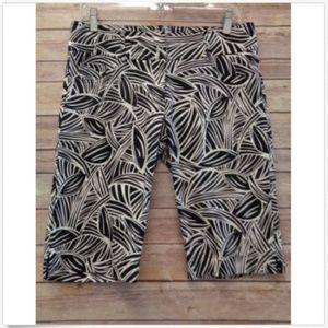 Cache White Black 6  Shorts Bermuda Stretch